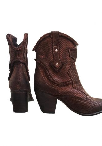EL VAQUERO Shine Scaled Tan Boots