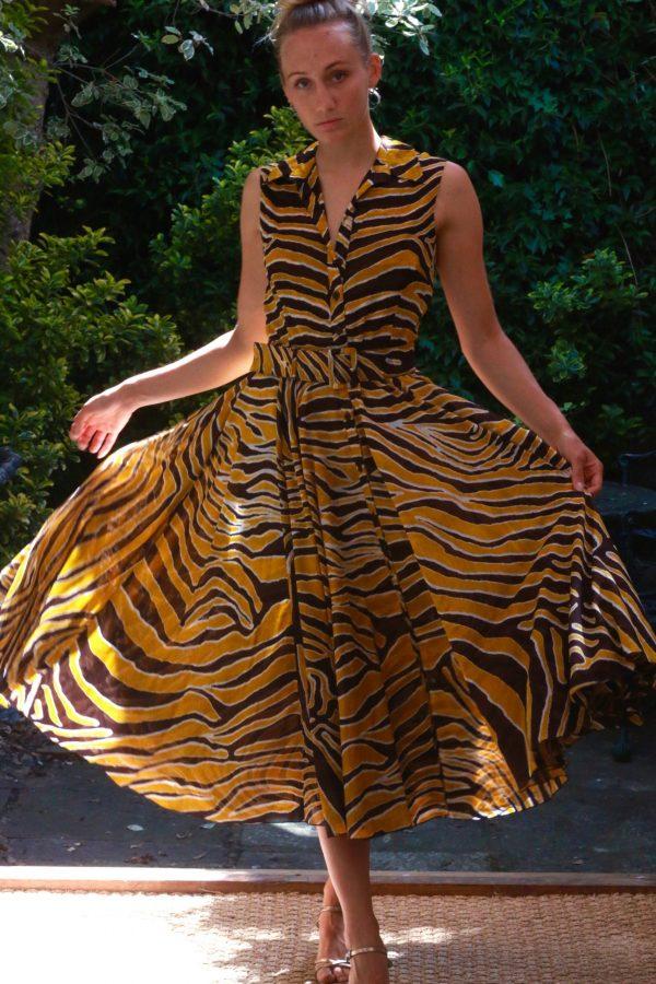 SAMANTHA SUNG – Aster Shirt Dress Half Sleeve – Daffodile Yellow