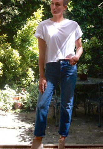 cropped t-shirt white