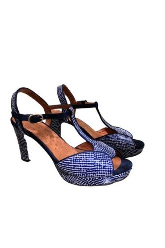 Blue High Heel Shoes