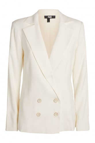 paige stripe rosette blazer