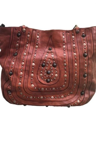 CAMPOMAGGI Studded Brown Shopper